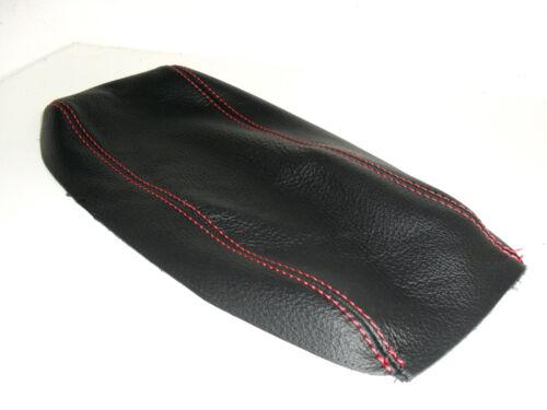 Rivestimento bracciolo Alfa Romeo 147 vera pelle nera filo rosso made in Italy