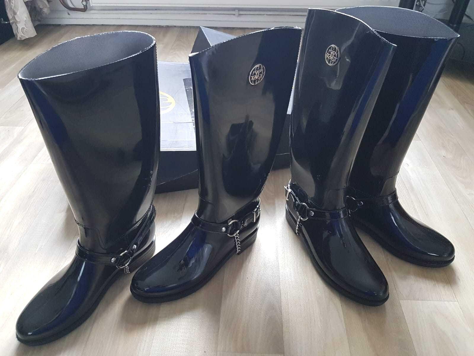 Designer Glamour Negro botas Talla L-Reino Unido 5.5 5.5 5.5 6 euro 39 40 Precio Original  calidad oficial