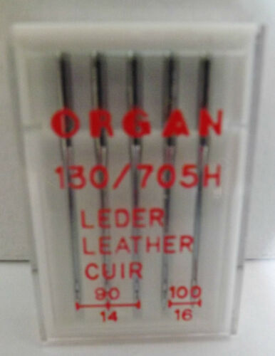 100//16 x 2 SIZES 90//14 x 3 ORGAN Domestic Sewing Machine LEATHER NEEDLES
