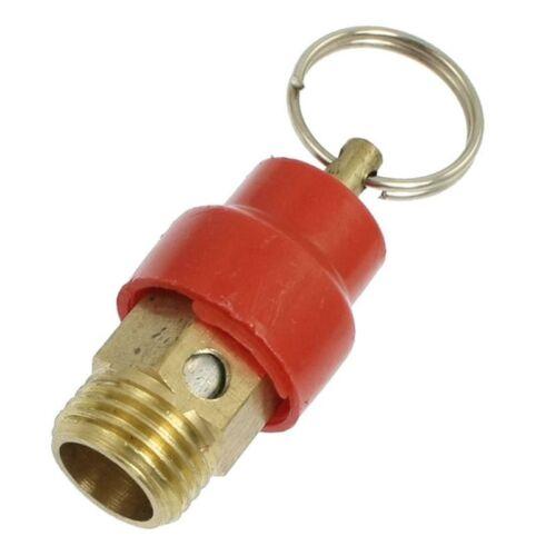 12,7mm Aussengewinde ueberdruckventil 10kg Gold+Rot T9D6 fuer Luftkompressor