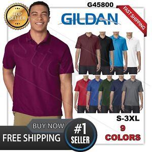 NEW-Gildan-Performanc-Mens-Polo-Sport-golf-Shirt-Jersey-T-Shirt-45800-Size-S-3XL