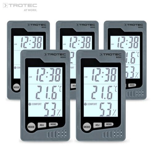 TROTEC Raum Thermohygrometer BZ05KlimamessgerätThermometerKlimastation