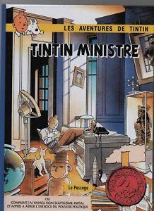 PASTICHE-TINTIN-Tintin-Ministre-Cartonne-64-pages-couleurs-Ed-Le-Passage