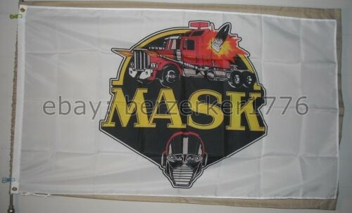 USA Seller M.A.S.K. 3/'x5/' White Flag Banner Mobile Armored Strike Kommand