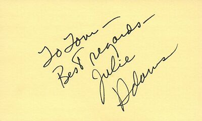 Cards & Papers Autographs-original Tireless Julie Adams Actress 1980 Tv Movie Autographed Signed Index Card Special Summer Sale