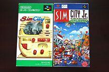 Super Famicom SFC Sim City + Sim City JR Boxed Japan game US Seller