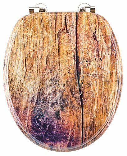 Eisl WC Sitz RUSTIKAL, mit Holzkern (MDF), Motiv, EDRU01   | Stil