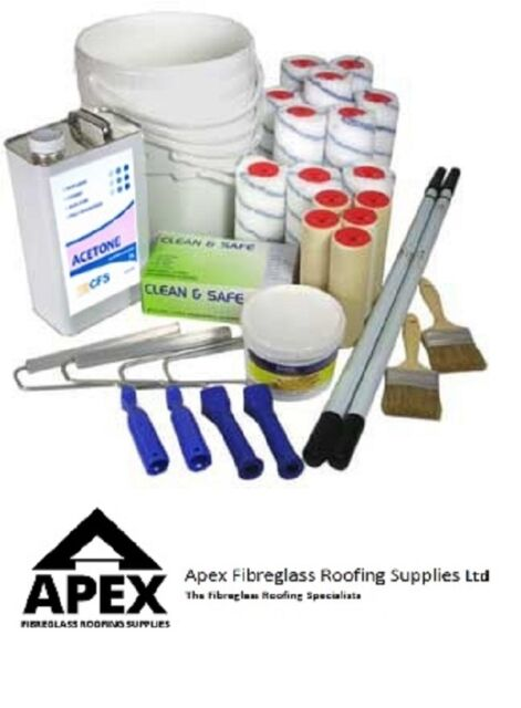 Fibreglass Roofing Large Tool Kit for 30 Square Metres & Up