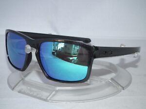 10d965db00 Image is loading CUSTOM-OAKLEY-SLIVER-SUNGLASSES-OO9262-Metallic-Black- Sapphire-