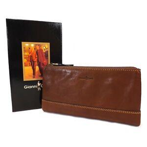 5e46f5aa9a1 Gianni Conti Leather Wrist Bag / Large Wallet Purse - Style: 912211 ...