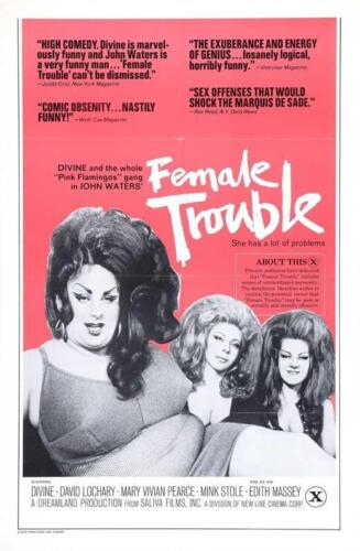 B USA Female Trouble Movie POSTER 27 x 40 Divine NEW David Lochary