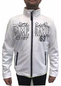 Details zu NEU Camp David Herren Softshelljacke mit Stehkragen weiß Jacke M XXXL