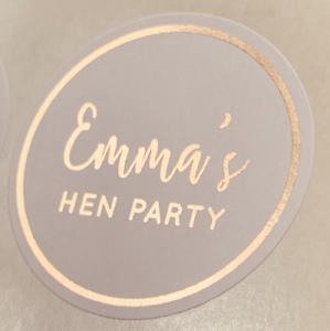 Personalised-ROSE-GOLD-Hen-Do-Birthday-Wedding-Party-Bag-Stickers-WHITE-Labels