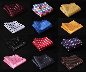 Polka-Dot-Colors-Men-Silk-Satin-Handkerchief-Pocket-Square-Hanky-Wedding-Party