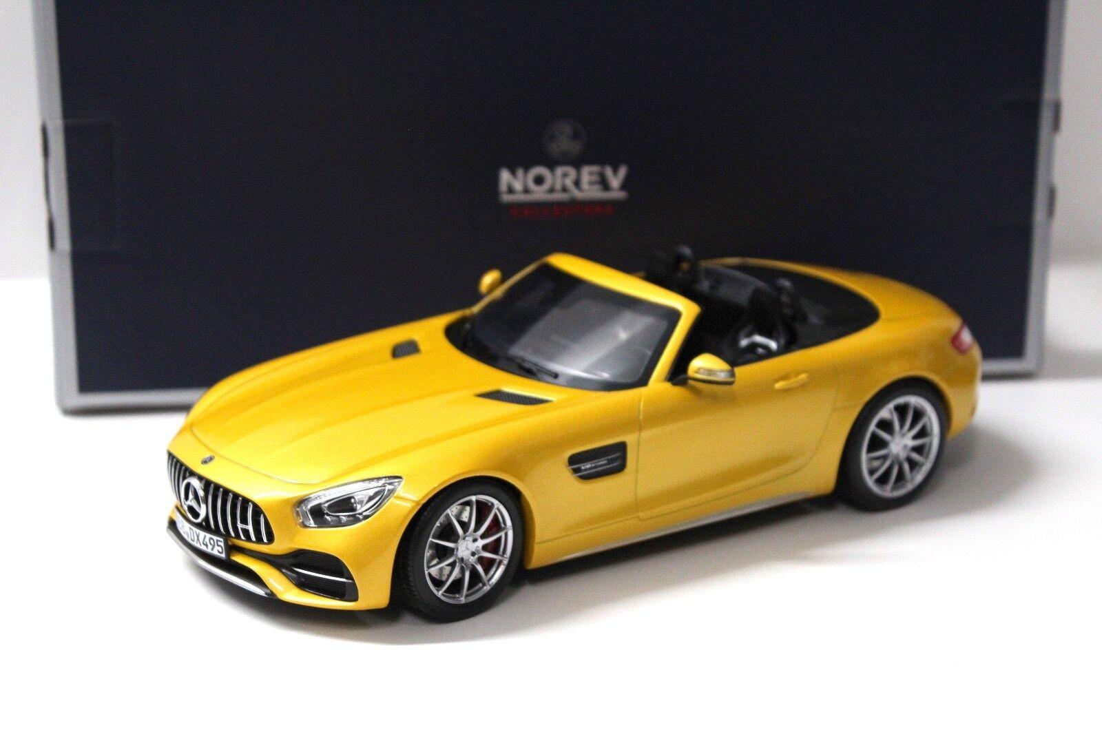 1 18 Norev Mercedes AMG GT C Roadster jaune 2017 New chez Premium-modelcars