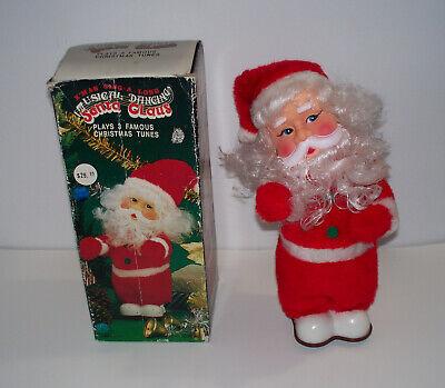 NEW SAXOPHONE SANTA CLAUS+SLEIGH+REINDEER MUSICAL MERRY CHRISTMAS FIGURINE+BOX