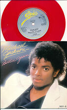 "MICHAEL JACKSON 45 TOURS 7"" UK RED VINYLE ROUGE BILLIE JEAN"