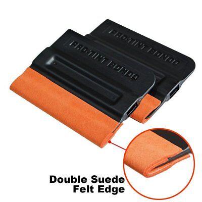 1-5Pcs Pro-Tint Bondo Squeegee Double Suede Edge Soft Felt Scraper Film Wrapping