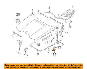 bmw oem 06 08 750li hood bracket 51237133636 ebay battery for bmw 750li  2006 bmw 750li hood diagram