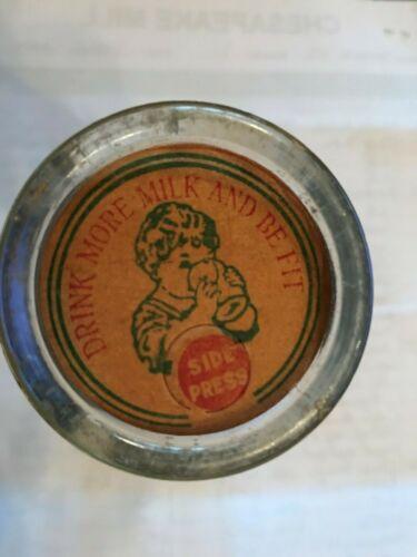 One 1930/'s Cardboard Milk Bottle Cap Insert unused Old New Stock