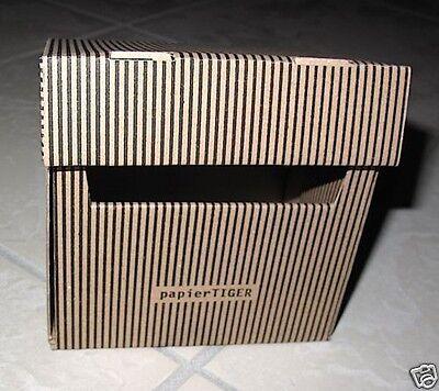 PapierTiger von na-und Karteikasten Streifen A6 Kartonage braun 2 St/ück