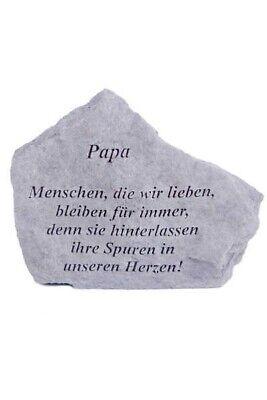 """Gedenkstein """"papa...."""" Vidroflor Steinguss Friedhof Frostfest 15566 Mangelware Bestattungsbedarf"""