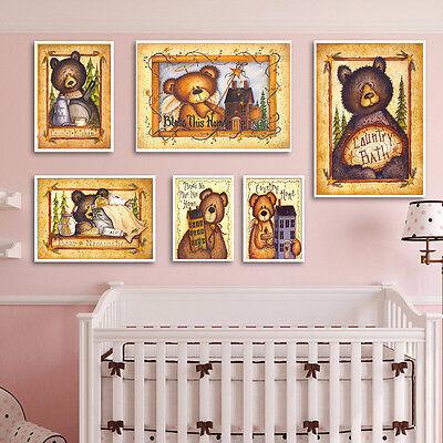 Cartoon Animal Canvas Poster Nordic Art Print Modern Home Decor for Kids