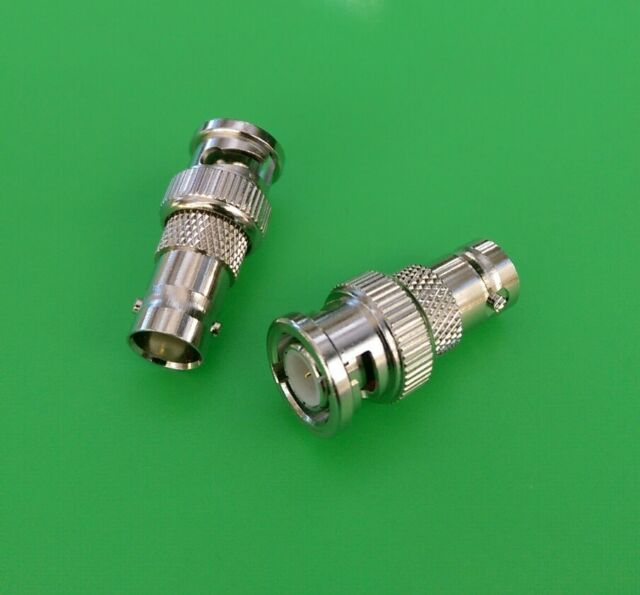 USA Seller 2 PCS BNC Male to BNC Female Connector