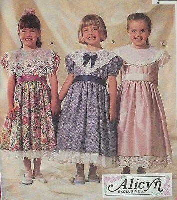 OOP McCALLS 7519 Girls Dress Pinafore//Sundress /& Pantaloons PATTERN 2-3-4-5-6 UC