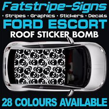 FORD ESCORT GRAPHICS STICKER BOMB ROOF DECALS STICKERS STRIPES  RS TURBO 1.6 1.8