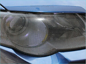 90CM x 105CM Headlight Tint Perforated Film Mesh Like Fly Eye MOT Legal Tinting