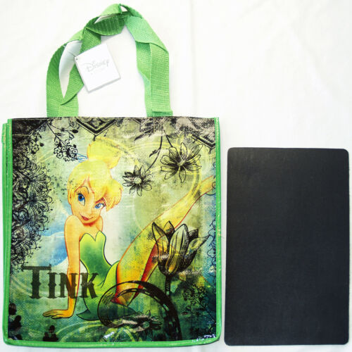 Disney Store TINKER BELL Ecology Reusable Shopping Bag New Tote w// Pocket /& Tag