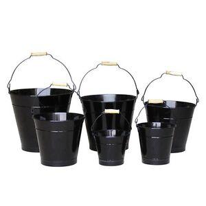 22cm Black Zinc Bucket/Metal/Tin/Container/Storage/Flower Pot/Home ...