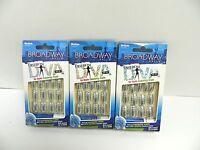Broadway Nails Fashion Diva Metal Glue On Nails 55577 Bggd01 - Lot Of 3 Packs