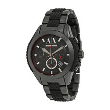 Armani Exchange Chronograph Black Dial Black Ion-plated Mens Watch AX1387