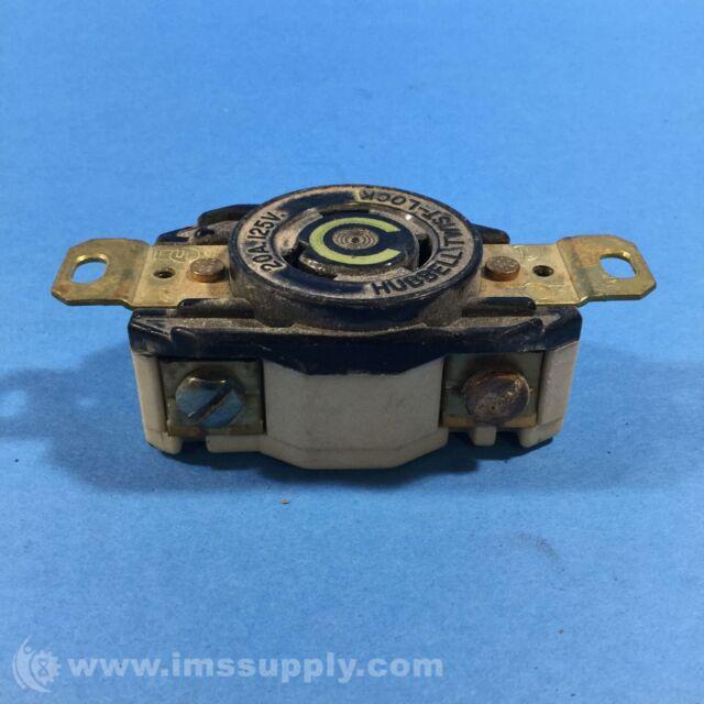 Hubbell NEMA L5-20 Twistlock Male Plug 20 Amp 125v 3 Wire | eBay
