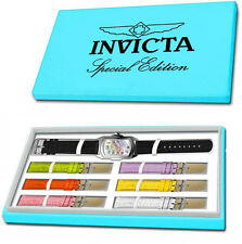 Invicta Women's Lupah Quartz 3 Hand White Dial Stainless Steel Watch 19942