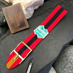 rare-Perlon-Reversible-1960s-Military-Diver-Strap-Vintage-Watch-Band-nos-18mm