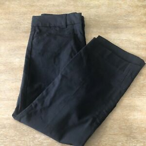 Women-s-Express-Editor-Dress-Crop-Pants-Size-4R-Black-Career-Stretch
