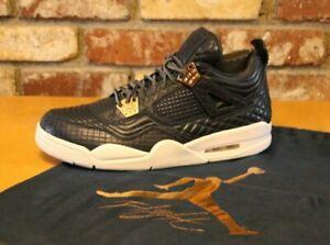 buy online 7ecbe ea8cb Image is loading Nike-Air-Jordan-4-IV-Retro-Premium-Obsidian-