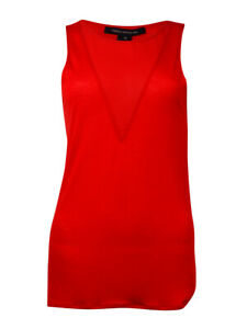 French-Connection-Women-039-s-039-Polly-039-Sleeveless-V-Neck-Blouse