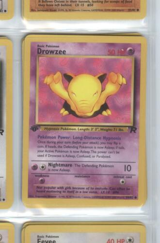 Team Rocket 1st Edition DROWZEE – 54//82 Pokemon NM = Buy more /& save!
