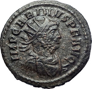 CARINUS-284AD-Rome-Ancient-Roman-Coin-Sacred-Firebird-Phoenix-Aeternitas-i73621