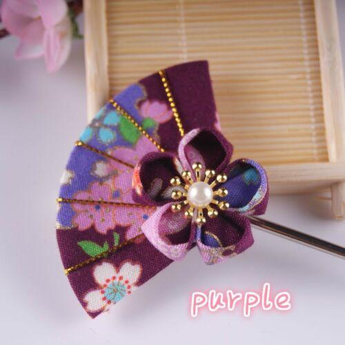 Handmade Japanese Retro Hair Accessory Kimono Hair Clips Pin Hair Stick DIY Chic