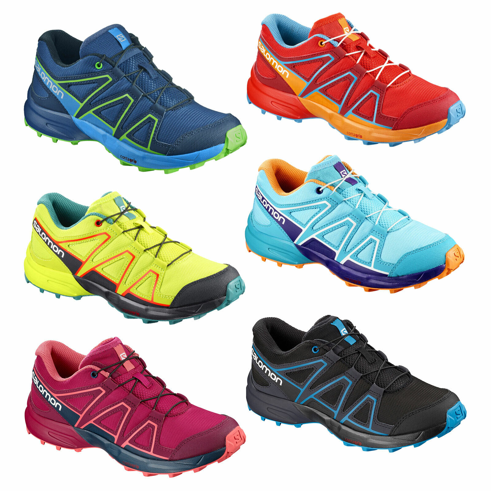 Salomon Gin J Junior Kids Running shoes hiking  shoes trekking footwear shoes  100% genuine counter guarantee