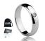 Anello-Fede-Fedina-Uomo-Donna-Solitario-Fidanzamento-Nuziale-Acciaio-Incisione miniatura 1