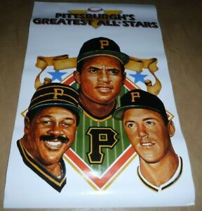5-VINTAGE-PITTSBURGH-PIRATES-CLEMENTE-MAZEROSKI-STARGELL-IRON-CITY-POSTERS-LOT