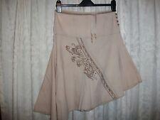 Beige Asymmetrical Lightweight Skirt Size 8-10 boutique by republic