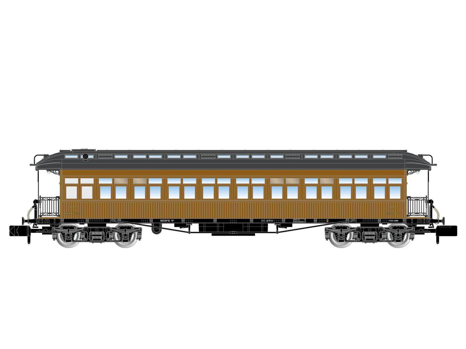 Arnold HN4237 - Personenwagen Reisezugwagen Costa 3.Kl. M.Z.A. - Spur N - NEU