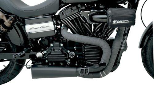 """Drag Specialties Motorcycle Exhaust 2/"""" Heat Wrap Kit Black 25 feet Drag pipe"""